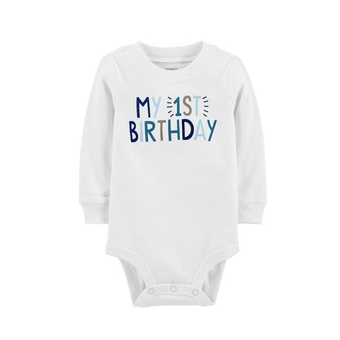 Carters Baby Boy My 1st Birthday Bodysuit Letter Print Clothes