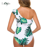 Liu & Qu Maternity Floral Swimsuit One Piece Vintage Off Shoulder