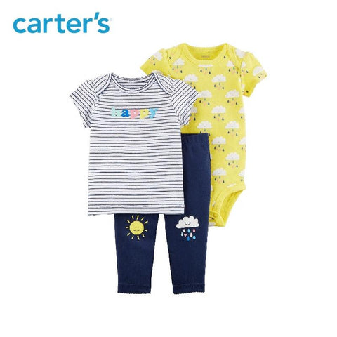 Carters 3-Piece Baby Girl Clothing Set Girl Spring & Summer Cotton