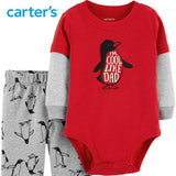 Carters Baby Boy 2Pcs Penguin Bodysuit Pant Set