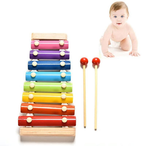 Kacakid Baby Toy Xylophone Wooden Baby Kids Educational