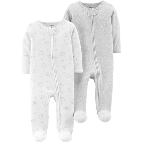 Carters 2-Pack Zip-Up Sleep & Play Baby Boy Baby Girl Clothes