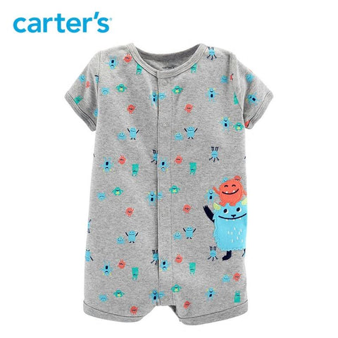 Carters baby boy Clothes Monster Snap-Up Romper Summer