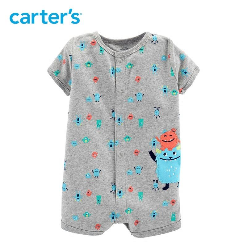Carters Baby Boy Clothes Monster Snap Up Romper Summer