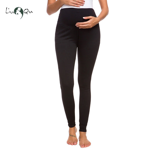 Liu & Qu Maternity Elastic Stretch Soft Sports Yoga Pants Leggings