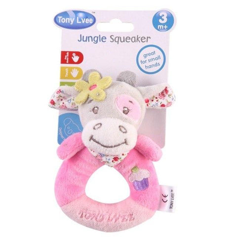 Kacakid Soft Toy Baby Boy Girl Rattles Hand Bells