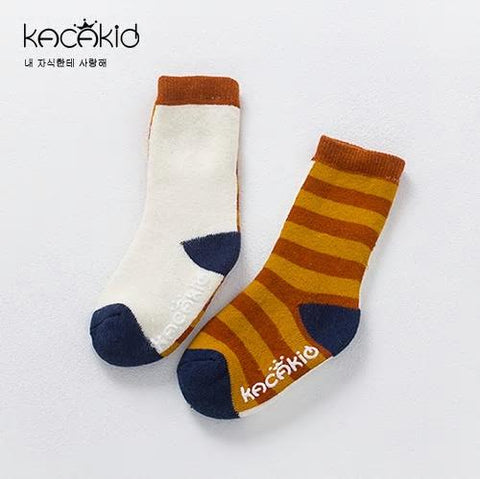 Kacakid Baby Girl Boy Socks Thick Children  Striped