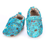 Simfamily Baby Shoes Boy Genuine Leather Antislip Shoes