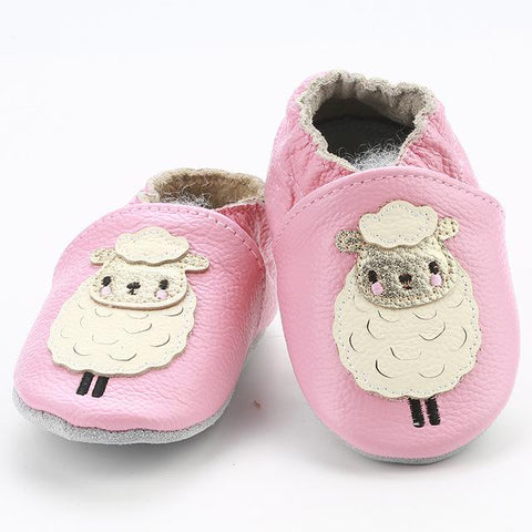 Simfamily Baby Shoes Girl Soft Genuine Leather Antislip