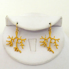 Gold Branch Earrings