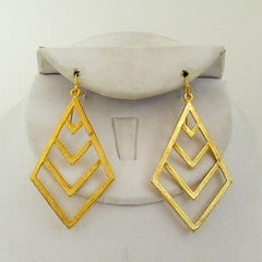Chevron Cut Out Earrings