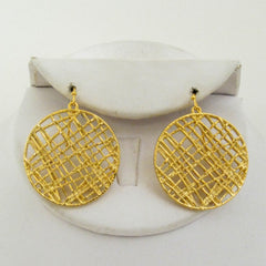 Crosshatch Circle Earrings