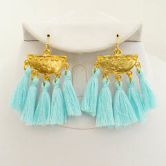 Silk Tassel Cluster Earrings