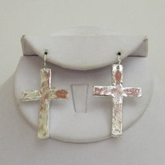 Slim Cross Earrings