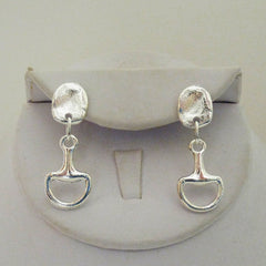 Silver Horsebit Earrings
