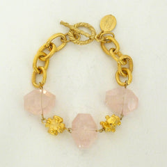 Rose Quartz toggle bracelet