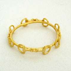 Gold Horsebit Bangle Bracelet