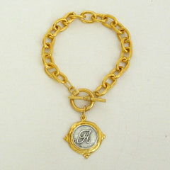 Gold & Silver Initial Bracelet