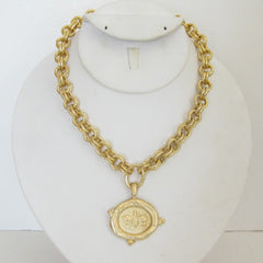 Gold Bee on Gold Chain Necklace