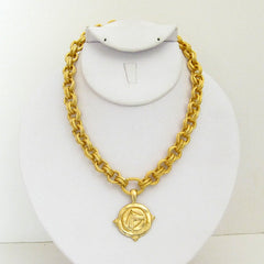 Gold Horse Head on Gold Chain Necklace