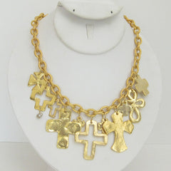 Gold Multi-Cross Necklace