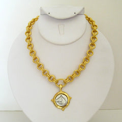 Gold & Silver Horse Head Necklace