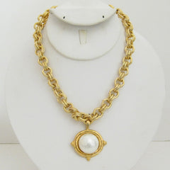 Handcast Gold Cotton Pearl Necklace