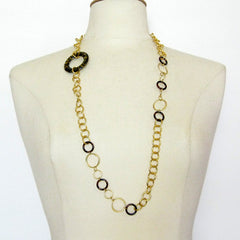 "30"" Gold & Tortoise Necklace"