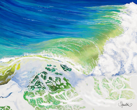 wave splash, waves crashing, big wave, impressionism, impressionist style