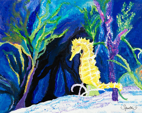 yellow seahorse, seahorse, baby seahorse, ocean animals, sea creatures
