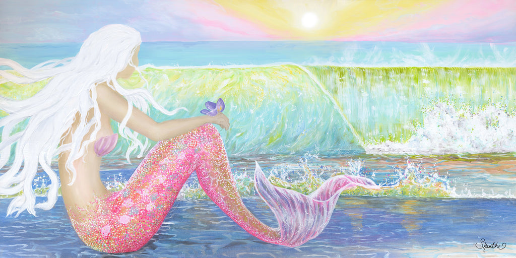 kids mermaid wall art, mermaid art canvas, mermaid art for girls, mermaid wall art, beach decor mermaids, mermaid prints on canvas, mermaid wall decor, beach decor kids, pink beach decor