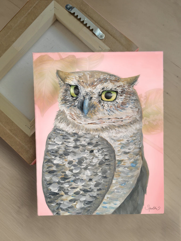 owl canvas print, owl wall art