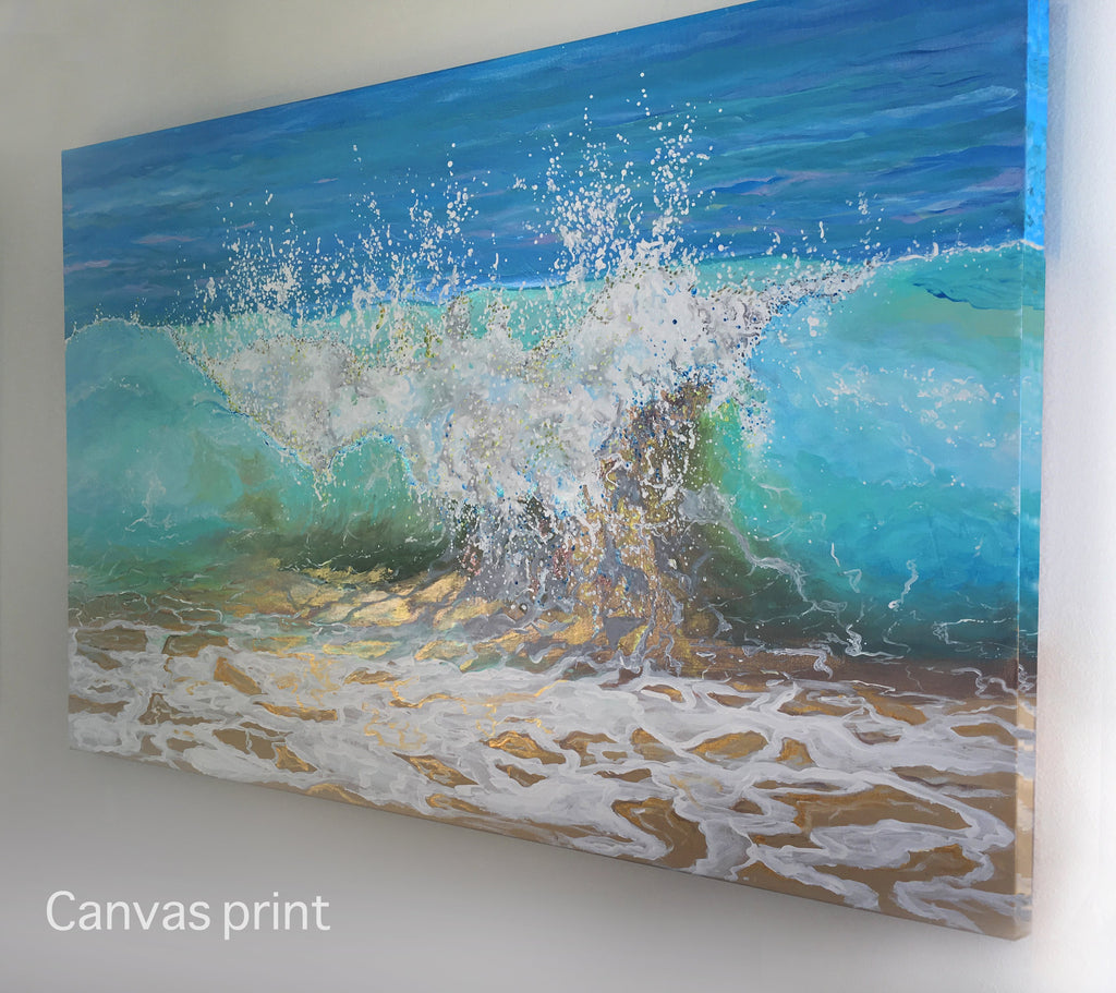 shanthi thiruppathi, Beach Prints, Waves, tropical water, tropical interior design, clearwater beach, calm waters