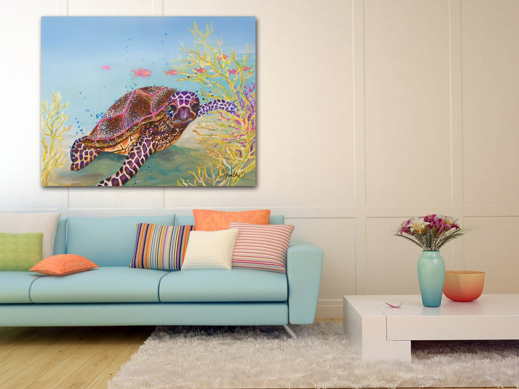 sea creature wall art, coastal living room decor, sea turtle gifts, sea turtle art, sea turtle decor, sea turtle art print