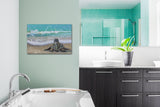 sea turtle bathroom decor, sea turtle prints, sea turtle art, sea turtle painting