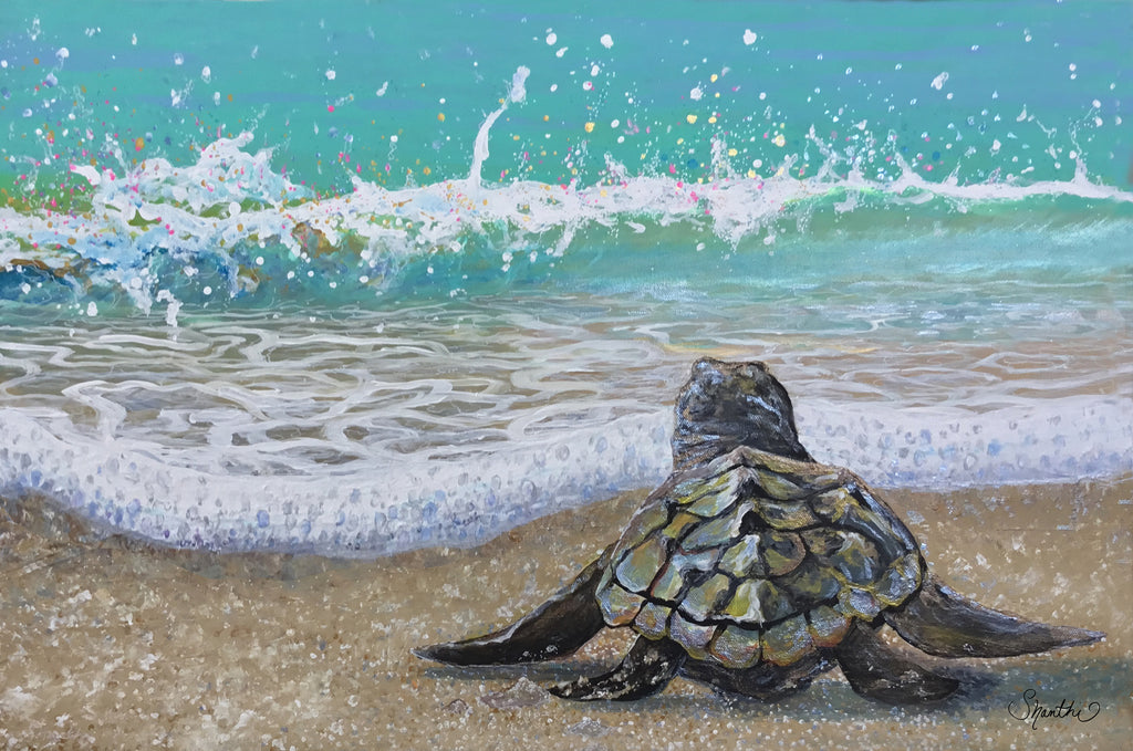 baby turtle art wall decor, sea turtle decor home, sea turtle gifts, sea turtle wall art canvas, sea turtle nursery, sea creature nursery