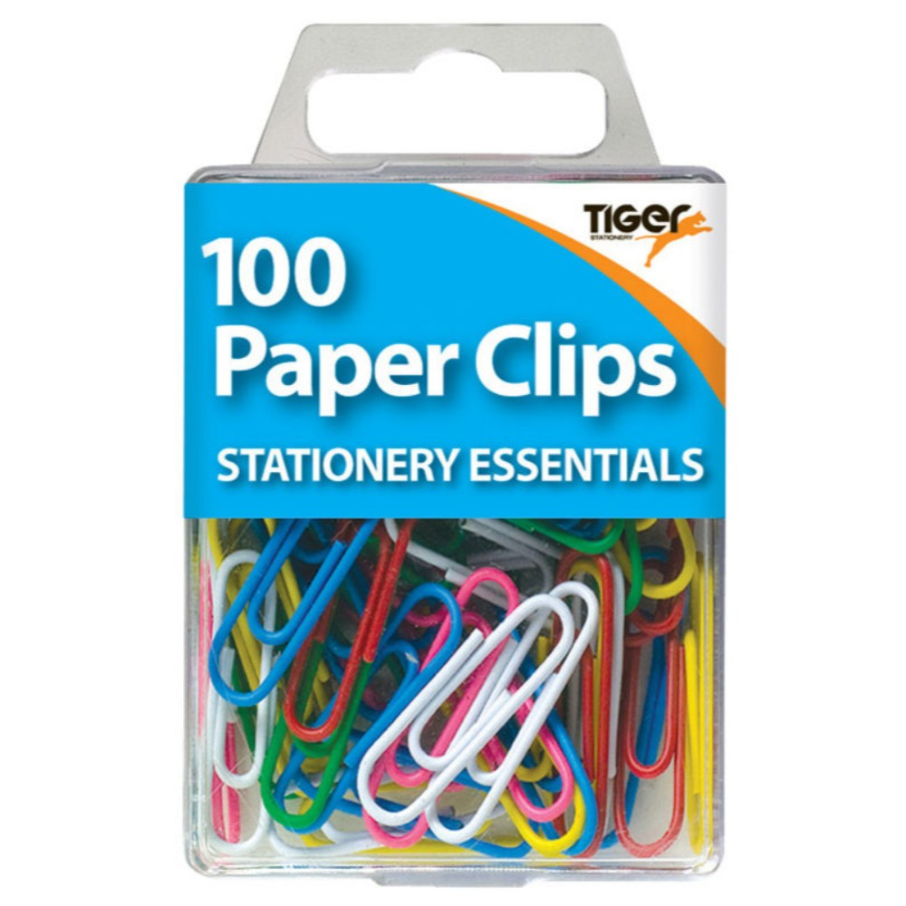 Pack of 100 Coloured Paper Clips
