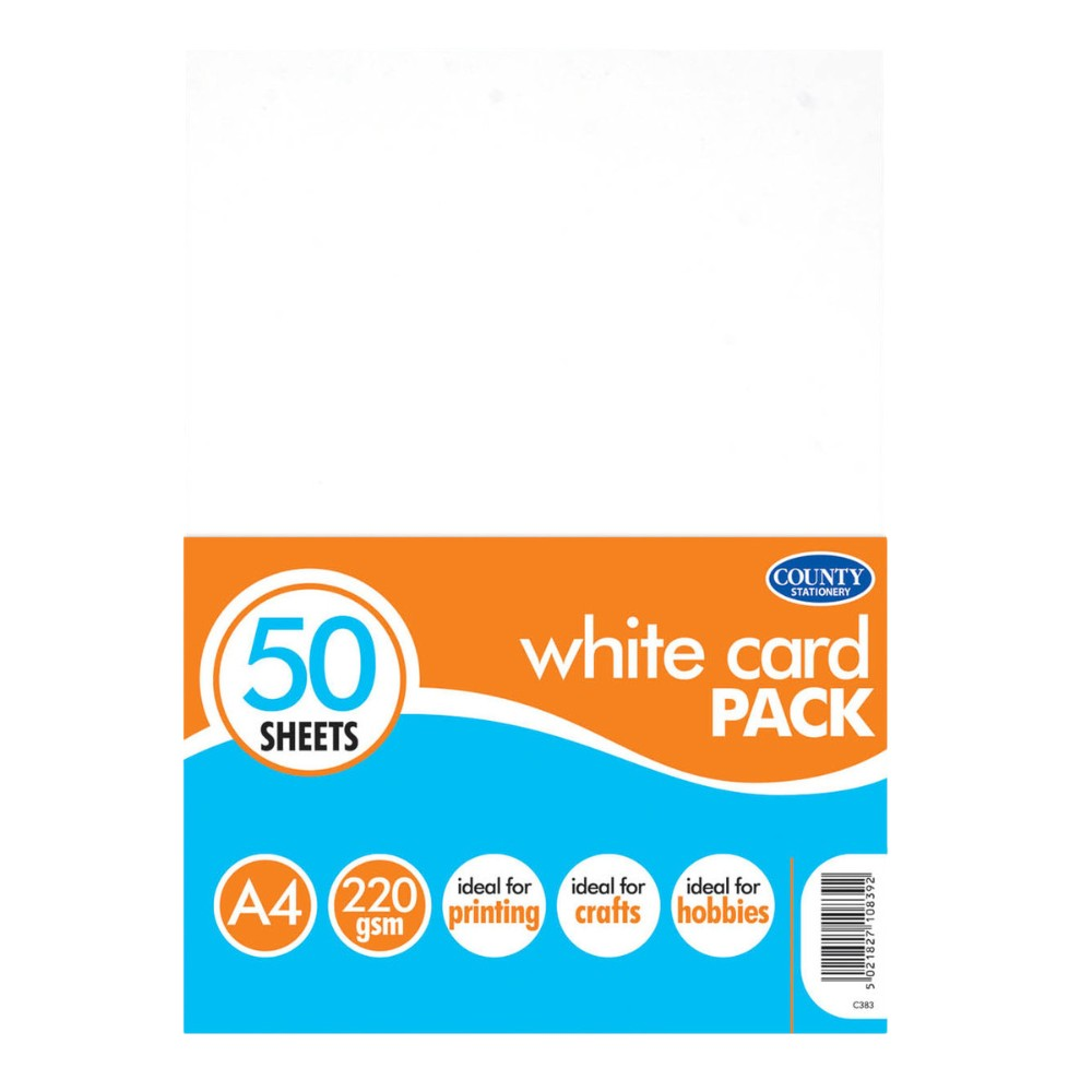 50 A4 White Card Pack 220gsm