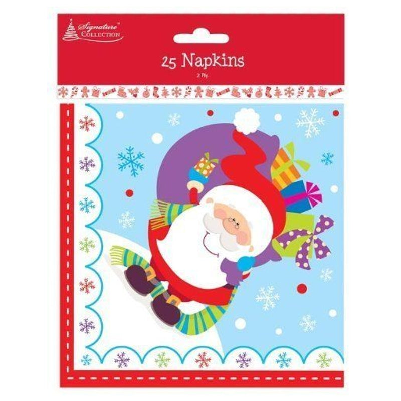 Pack of 25 Christmas Tableware Napkins High Quality