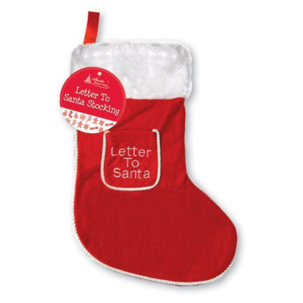 Large Red And White 'Letter To Santa' Christmas Stocking