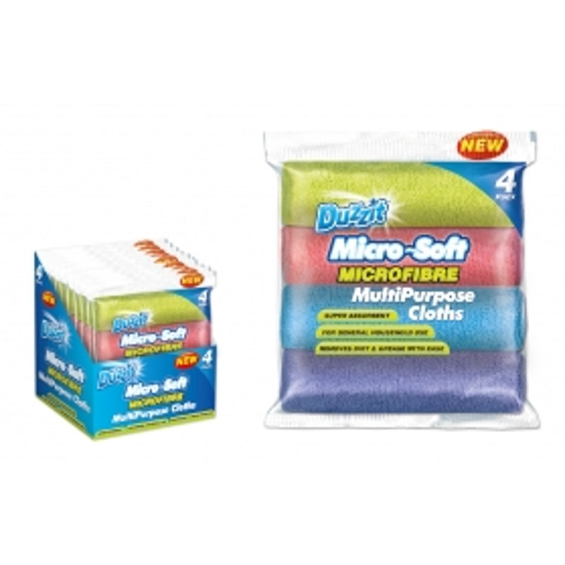 Pack of 4 Duzzit Microfibre Cloth