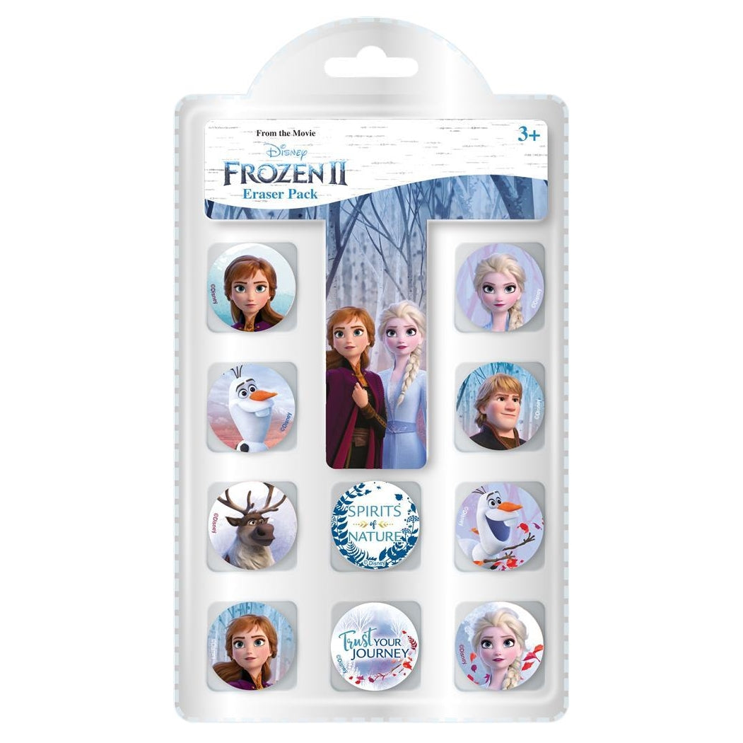 Pack of 10 Frozen 2 Erasers