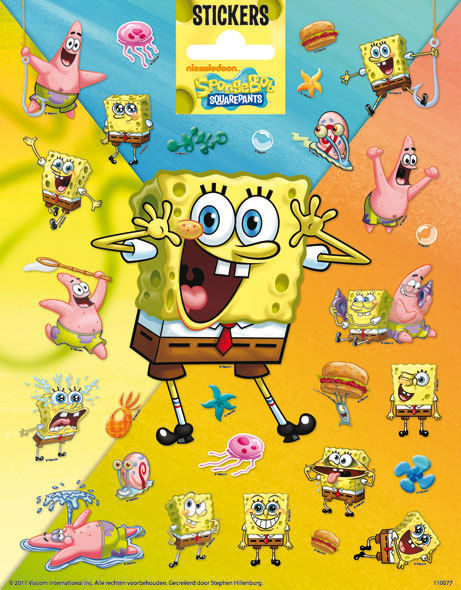 SpongeBob SquarePants and Friends Sticker Sheet