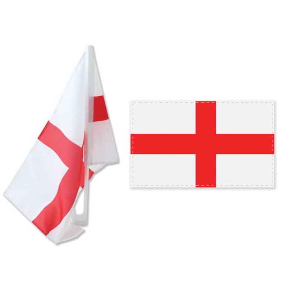 St George's England Twin Pack Car Flags