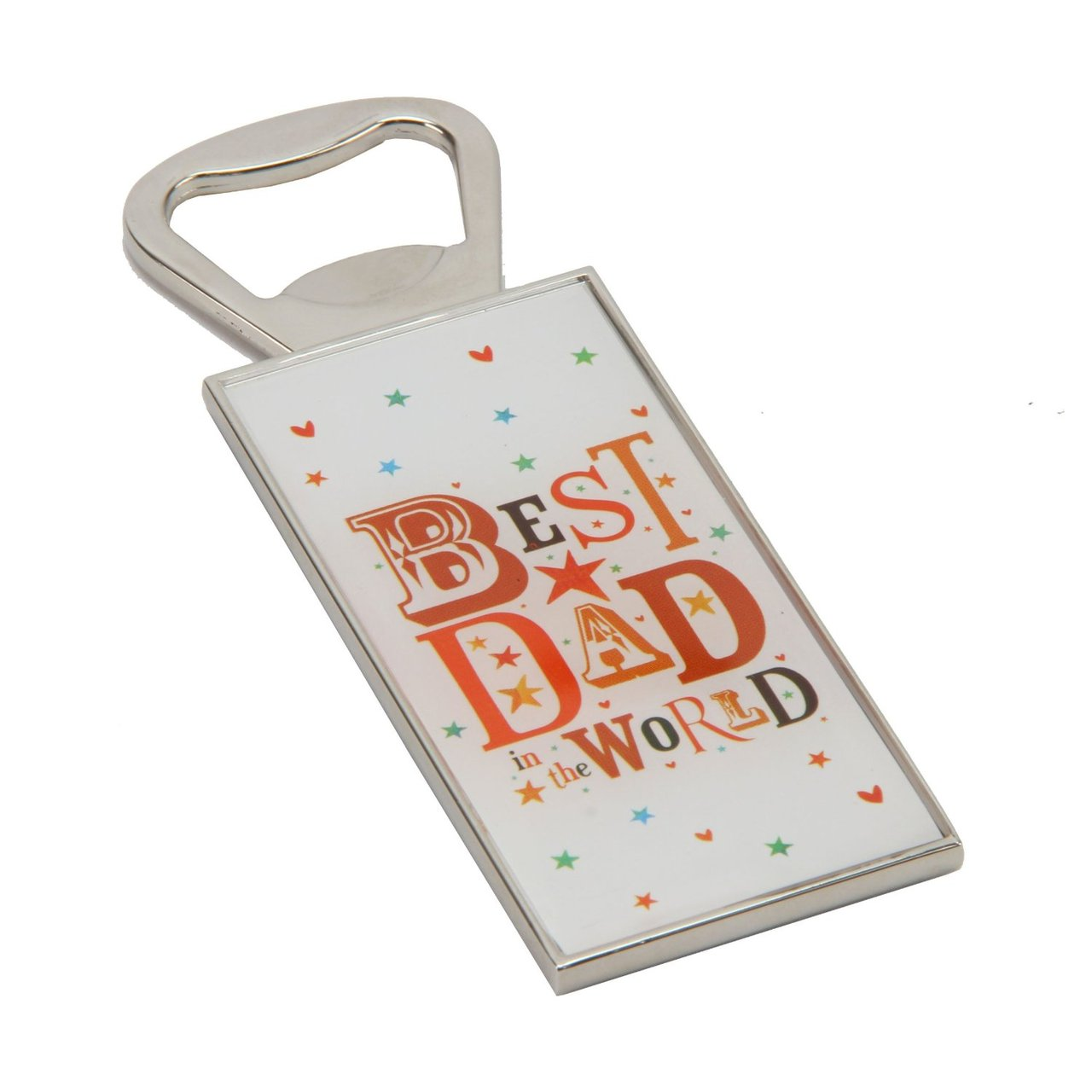 Best Dad in the World Metal & Epoxy Bottle Opener in Gift Box