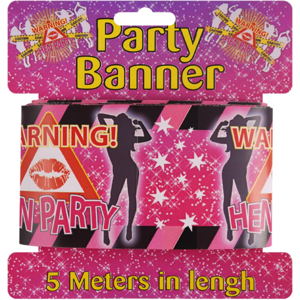 Tape Warning Hen Party 5m x 7.5cm