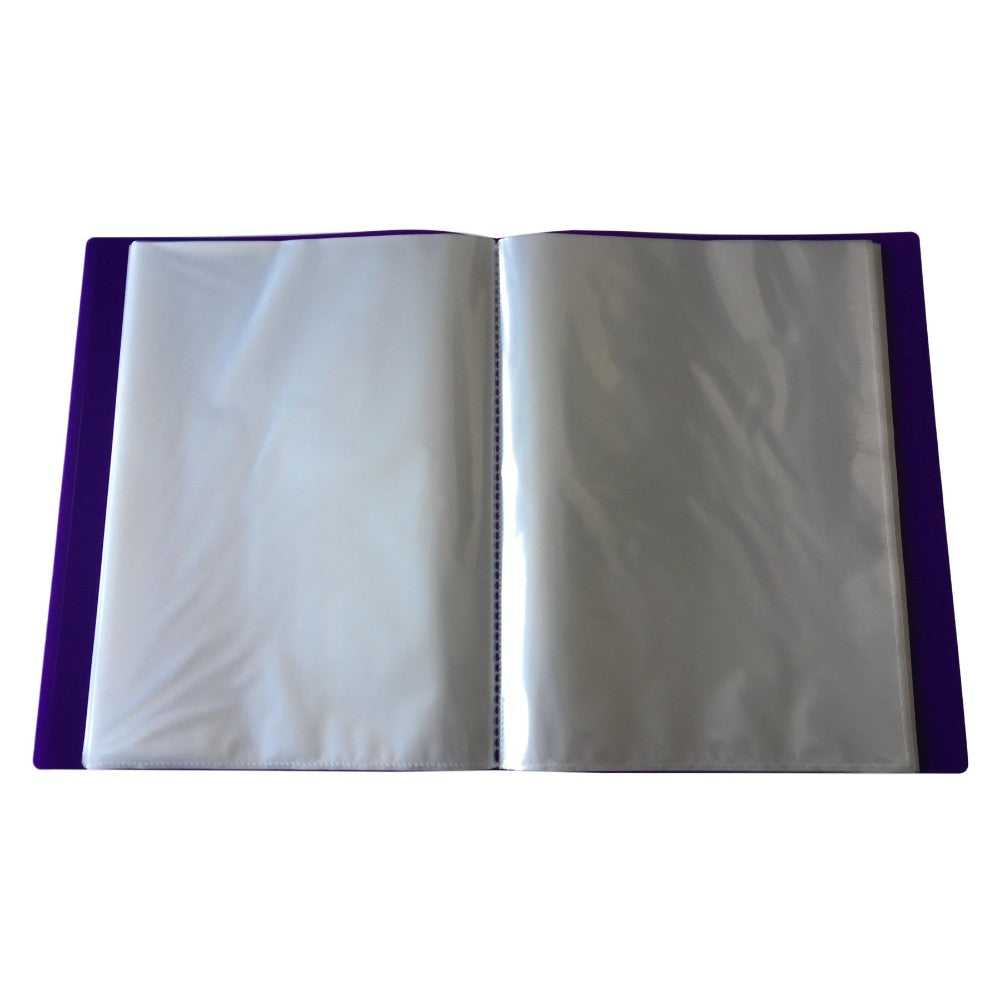 A4 Purple Flexible Cover 150 Pocket Display Book