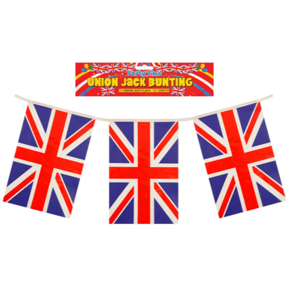 Union Jack Flags Bunting 12 Feet