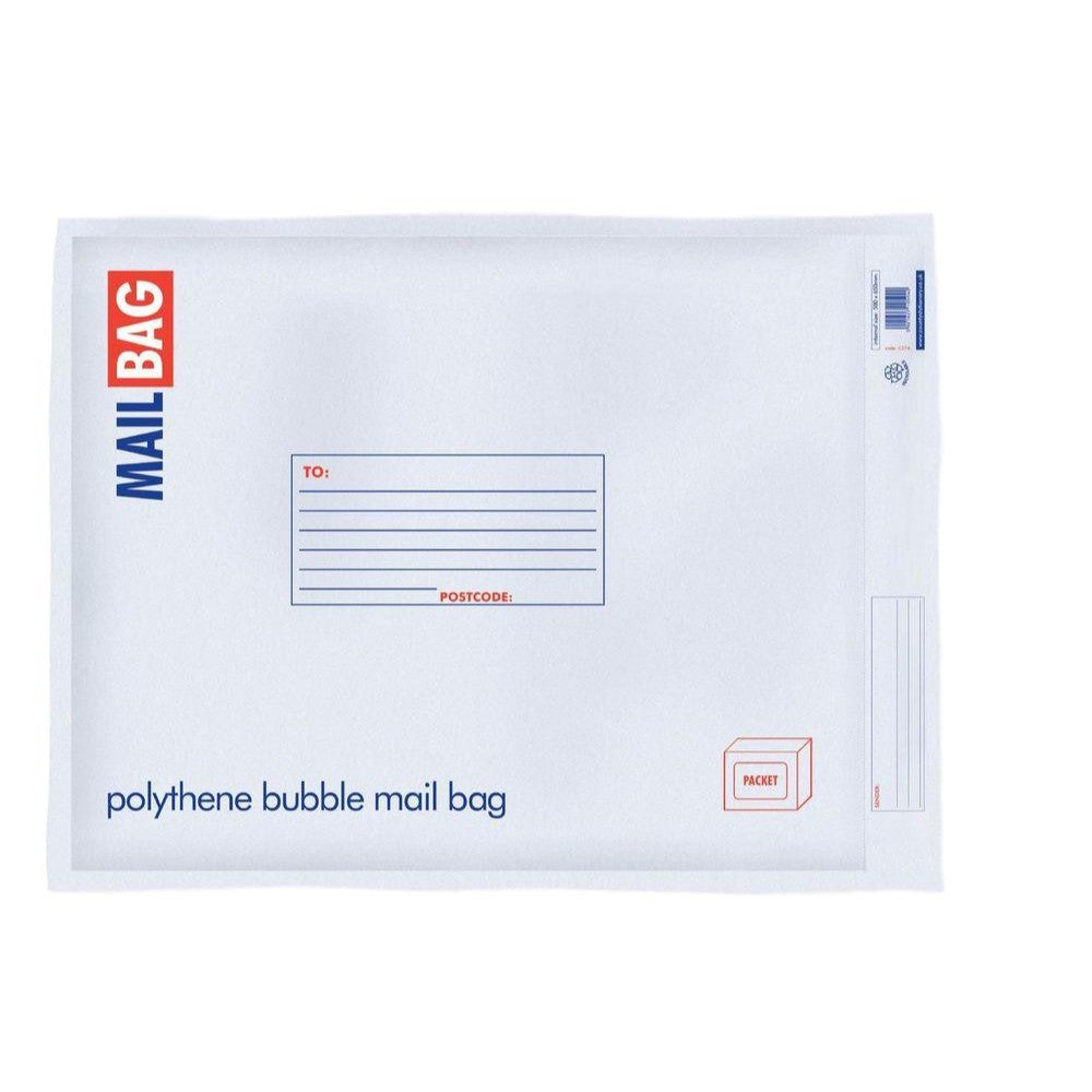 Pack of 10 Jumbo Polythene Bubble Mail Bags