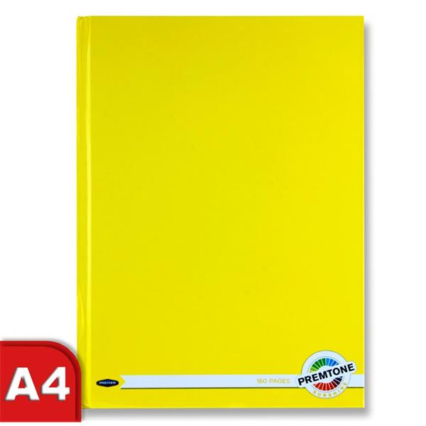 A4 160 Pages Sunshine Yellow Hardcover Notebook by Premto
